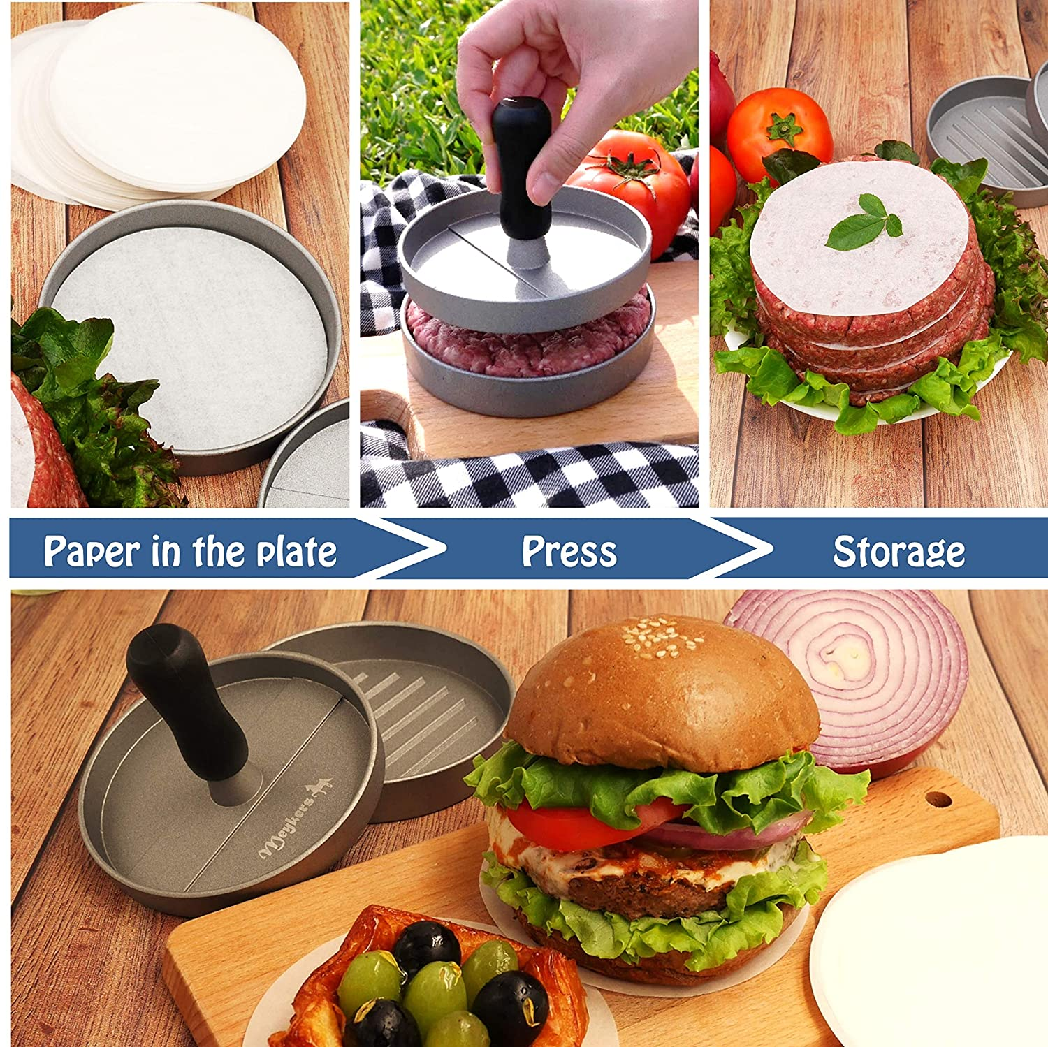 Freezer Paper Home & Kitchen Meykers Patty Paper Sheets for