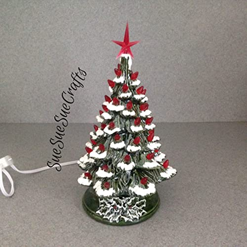 CHRISTMAS DECORATION Vintage style Ceramic CHRISTMAS TREE 11 inches tall a  holiday lighted decoration Green Glaze - Amazon.com: CHRISTMAS DECORATION Vintage Style Ceramic CHRISTMAS
