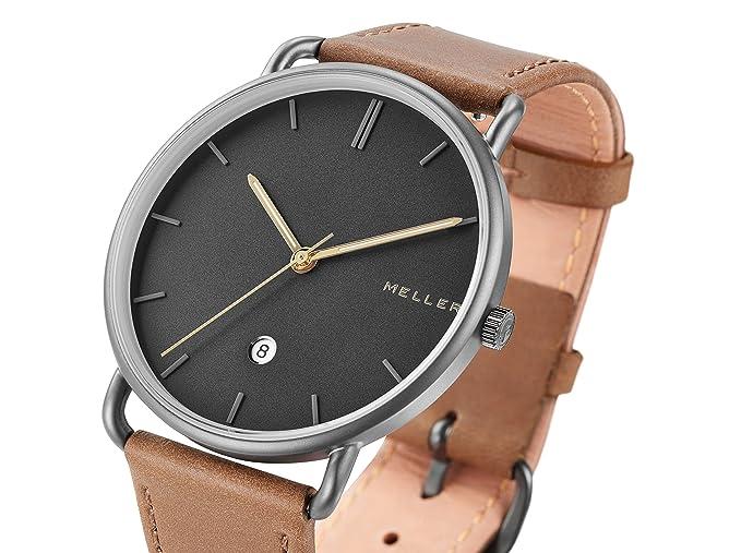 Meller Reloj Analógico para Unisex Adultos de Cuarzo con Correa en Cuero 3G-1CAMEL: Amazon.es: Relojes