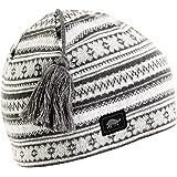 Turtle Fur Lift Line Merino Wool Nordic Style Knit Beanie, Fleece Lined Wool Hat
