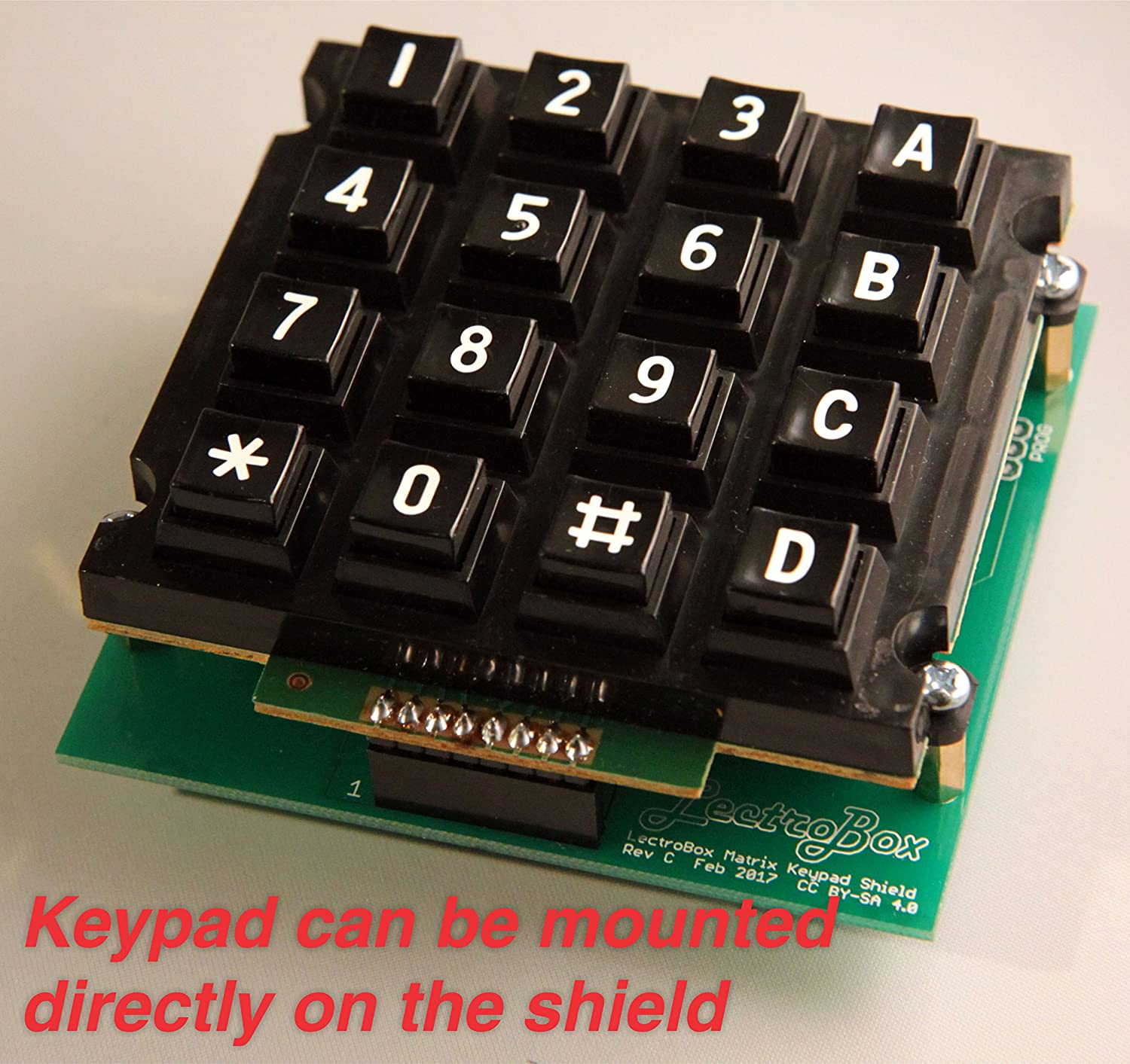 Arduino Keypad Shield With 16 Button Matrix Electronic Circuit Industrial Scientific