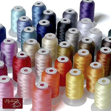 Kit de hilo para máquina de coser de la señora - 500 yardas cada ...