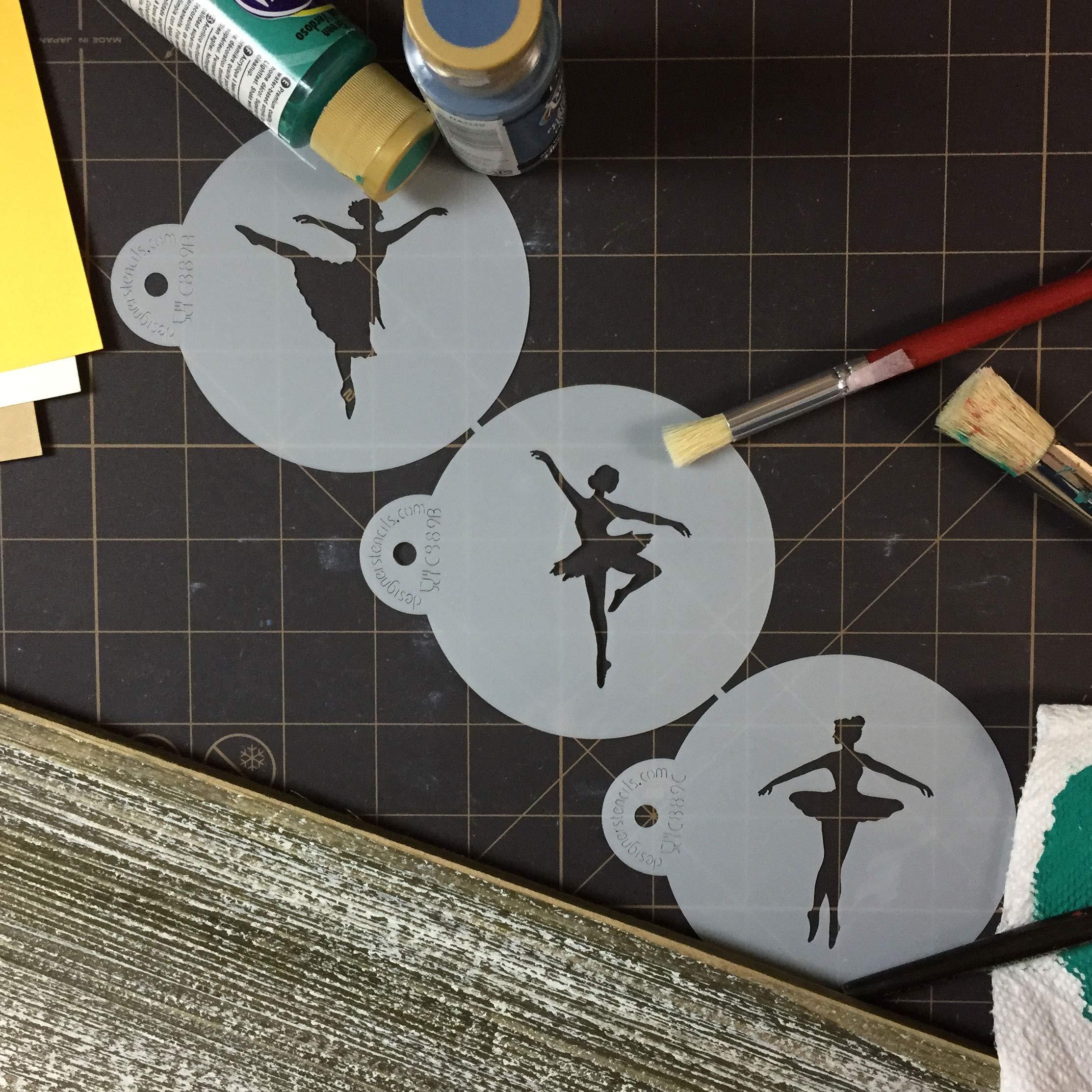 Designer Stencils C889 Ballerina Cookie Stencil Set, Beige/Semi-Transparent by Designer Stencils