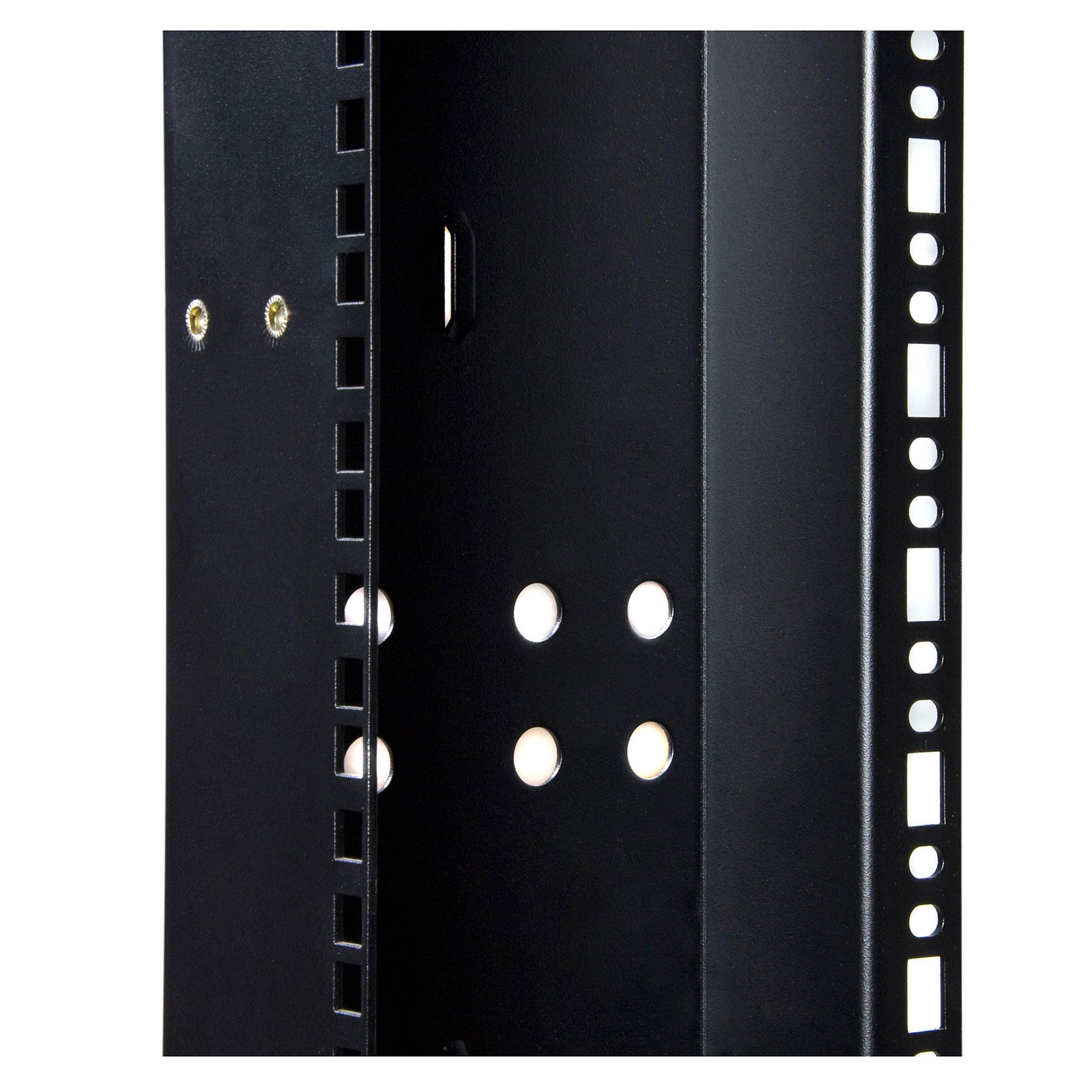 StarTech.com 45U 3300lb High Capacity 4 Post Open Server Equipment Rack - Flat Pack