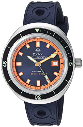 245e1b68a Image Unavailable. Image not available for. Color: Zodiac Men's Super Sea  Wolf 68 Stainless Steel Swiss-Automatic Watch ...