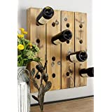 Deco 79 Woodall Wine Rack, 25-Inch by 21-Inch