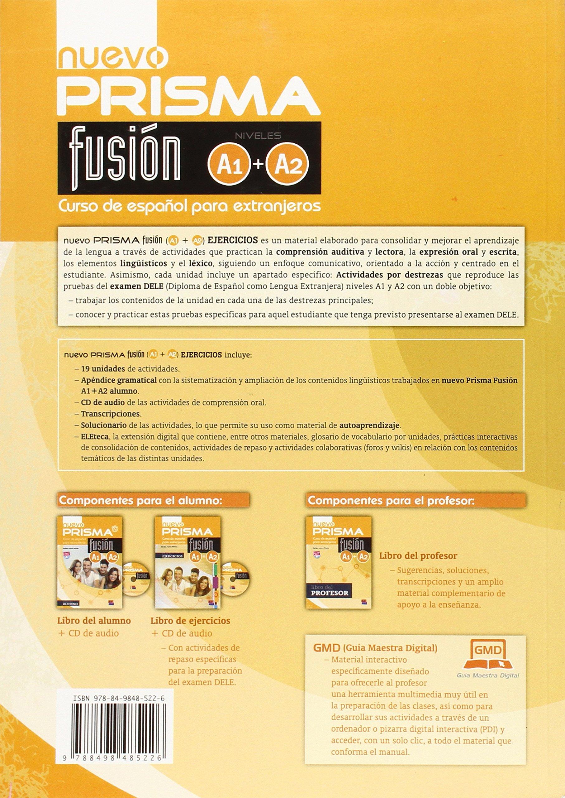 Nuevo Prisma Fusión A1/A2 Libro de Ejercicios + CD: Equipo ...