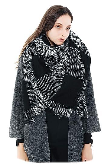 f0727476387c Femme Fille Tartan carreaux plaid extra large Écharpe Wrap Châles Etole  Frange