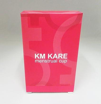 KM Kare menstrual vasos conjunto de 2 con libre bolsa – grande y pequeño tamaño –