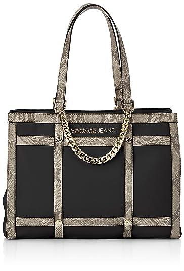 7df81129adce Versace Women s E1Vlbbg5 Top-Handle Bag Black Noir (Meg) One Size ...