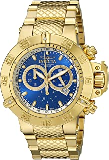 4e1812def3c Invicta Men s 14501 Subaqua Noma III Chronograph Blue Dial 18k Gold  Ion-Plated Stainless Steel