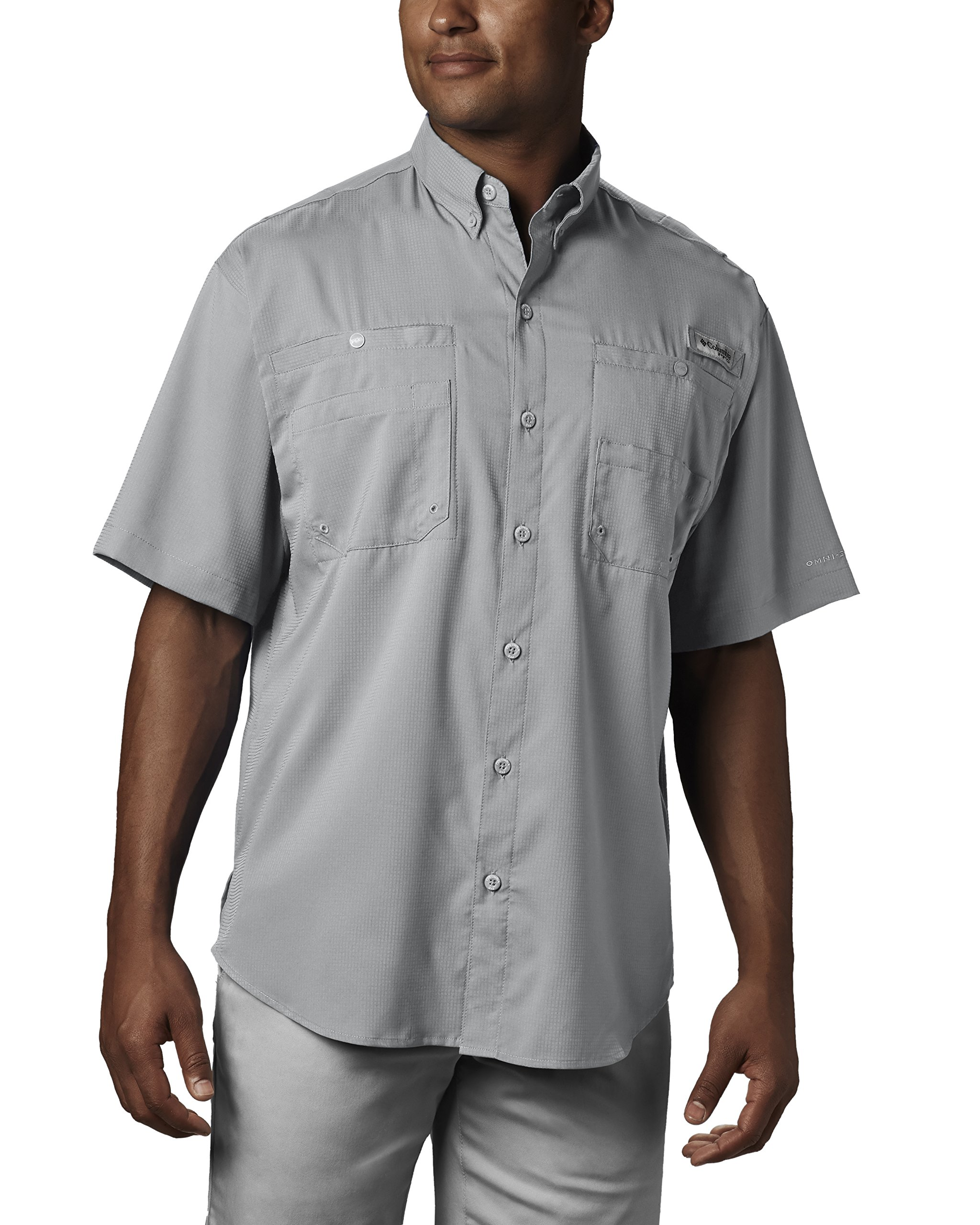 Columbia Men's Tamiami II Short Sleeve Fishing Shirt, Cool Grey, X-Small by Columbia (Image #1)