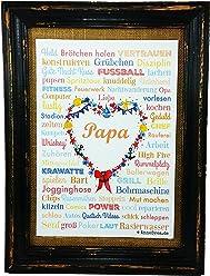 PAPA A4 Vatertag Geburt Dad Poster Druck Geschenk Babyshower Babyparty Hochzeit Mothersday Danke Mitbringsel Schwiegermutter