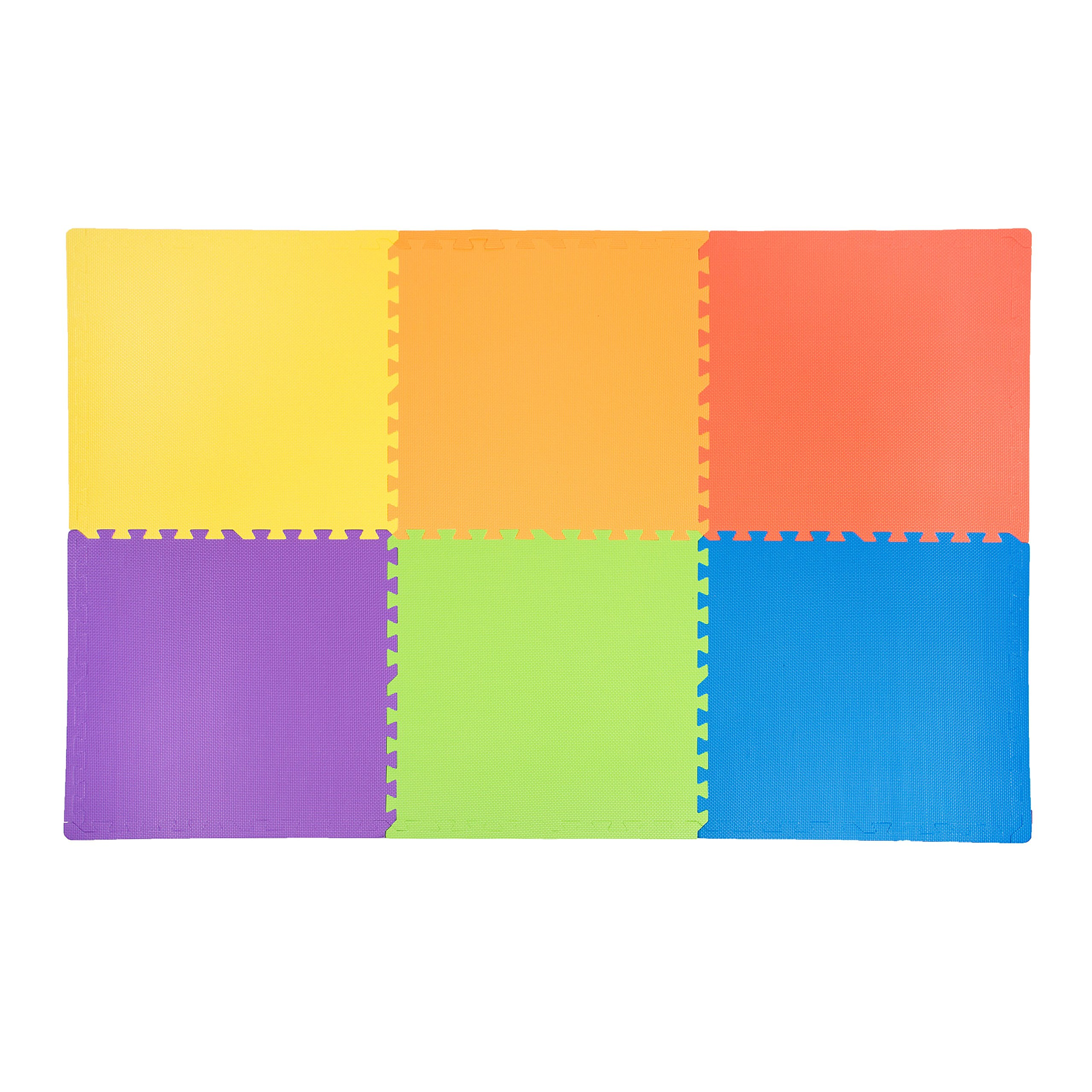 IncStores - Rainbow Foam Tiles (12 Pack) - 2ft x 2ft Interlocking Foam Children's Portable Playmats by IncStores (Image #5)