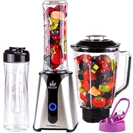 Smoothie Maker | Mix & Go | Licuadora para smoothies con batidora de vaso 2en1 Recipiente