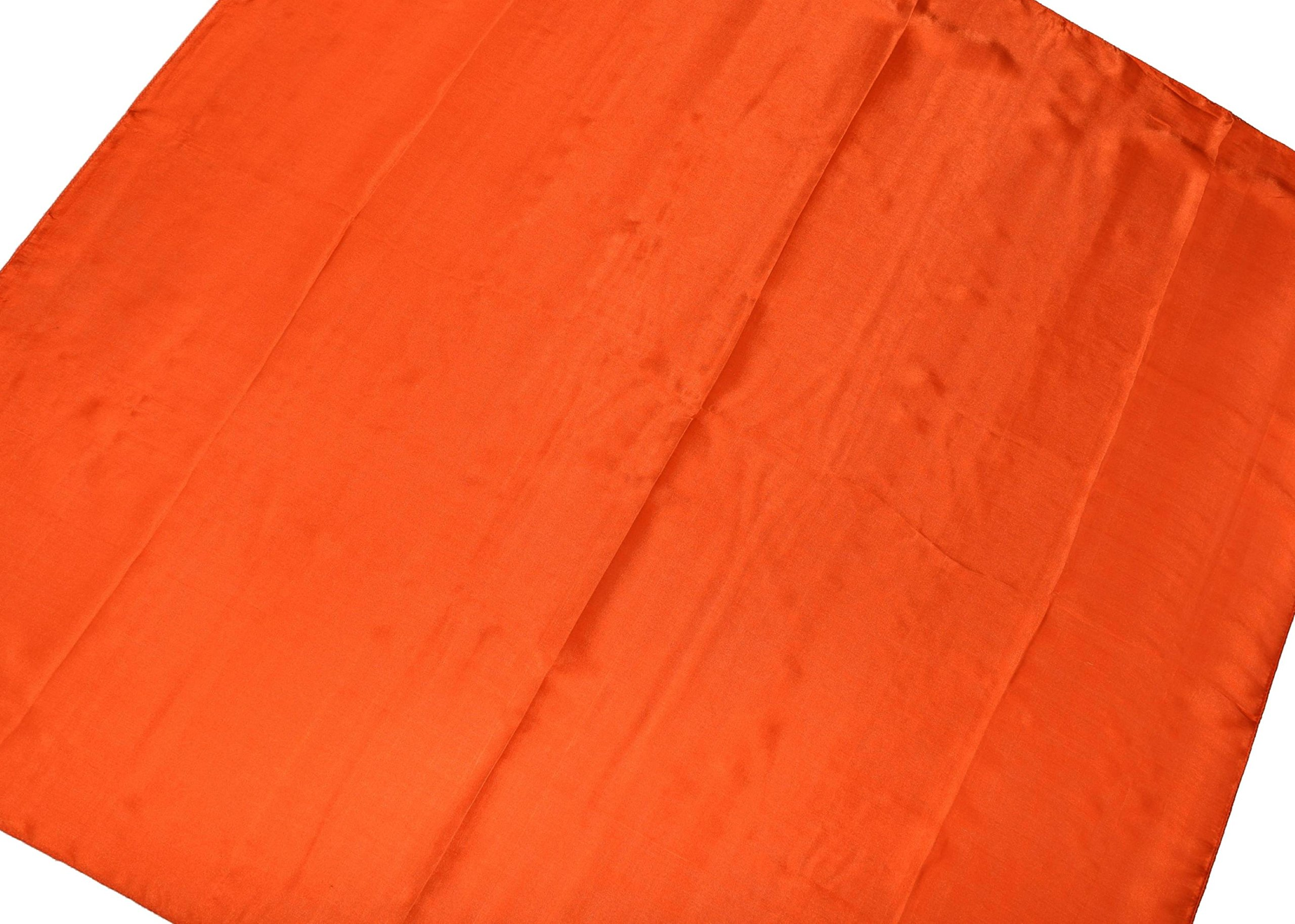 Orange Fine Silk Square Scarf by Bees Knees Fashion (Image #3)