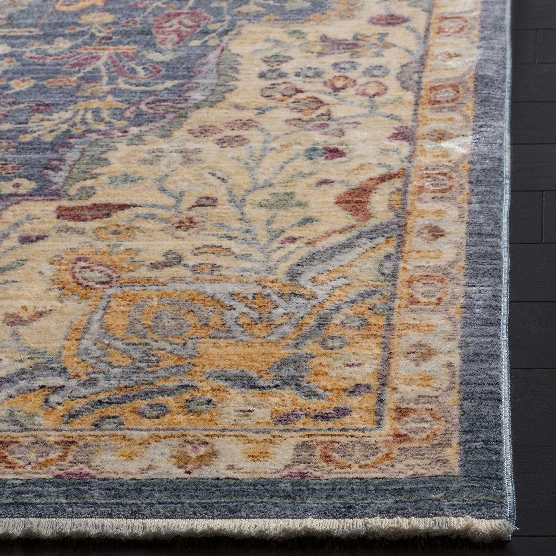 3 x 5 Safavieh Illusion Collection ILL707H Blue and Purple Area Rug ILL707H-3