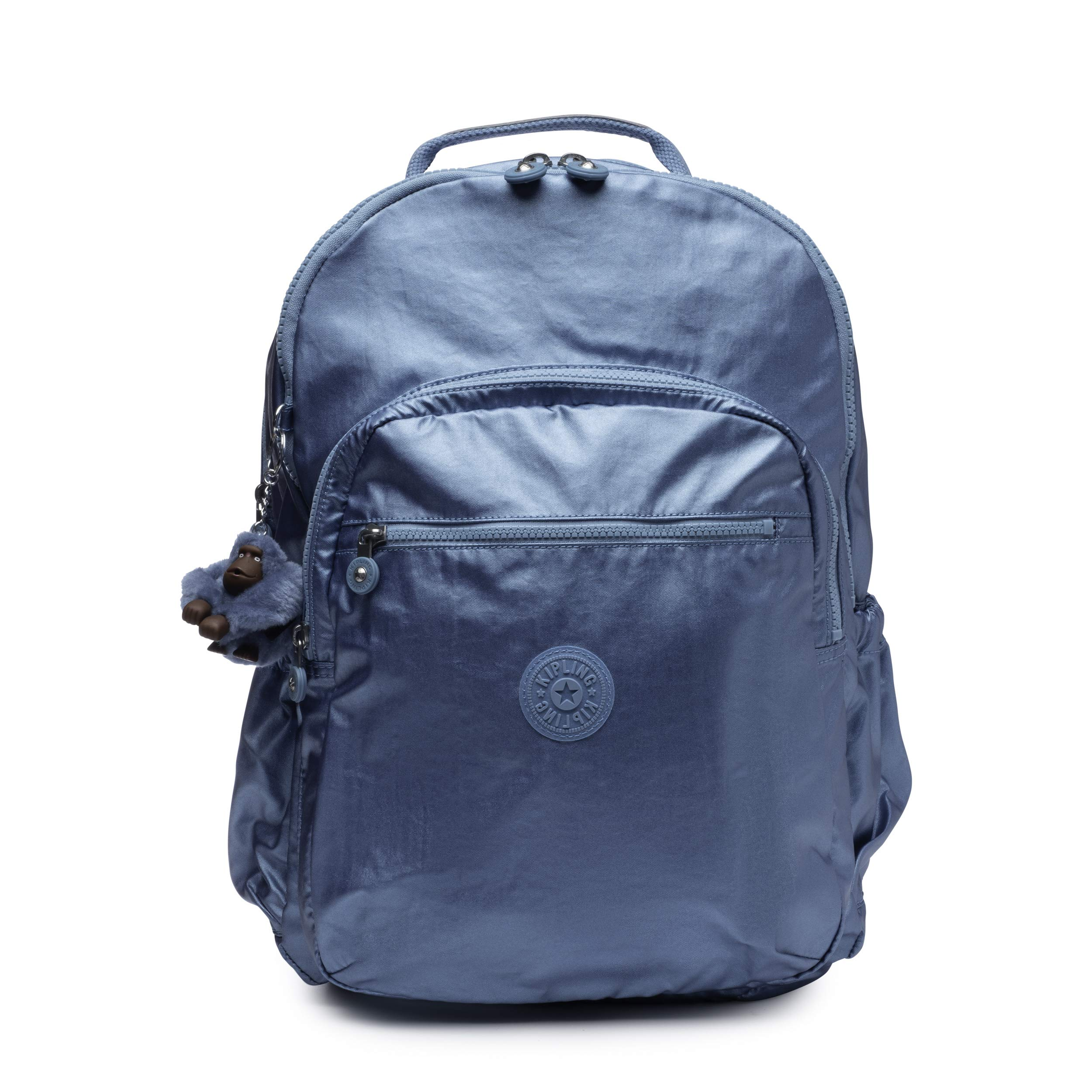 Kipling Seoul Go XL Laptop, Padded, Adjustable Backpack Straps, Zip Closure, turkish tile metallic
