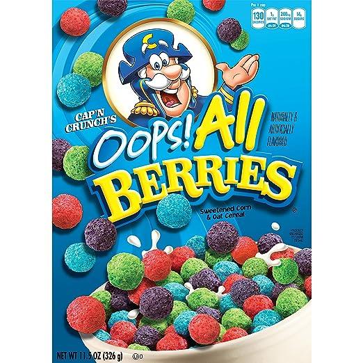 Quaker Cap'n Crunch Oops All Berries, 11.5 oz Box