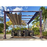 Paragon Outdoor PR11WD2C Backyard Structure Soft Top With Chilean Ipe Frame  Valencia Pergola, 11