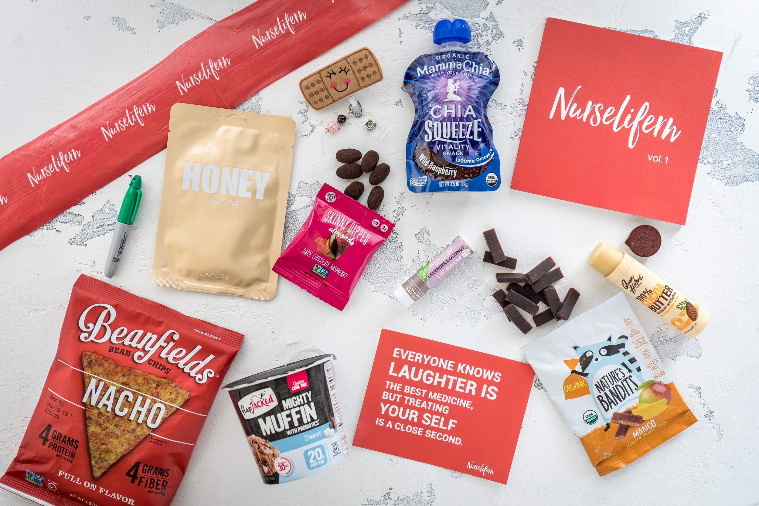 Nurse Essentials Gift Box: Nurse Badge Healthy Snacks Self Care Nurse Gift Must Haves All In One By Nurselifern by BUNNY · JAMES · (Image #3)