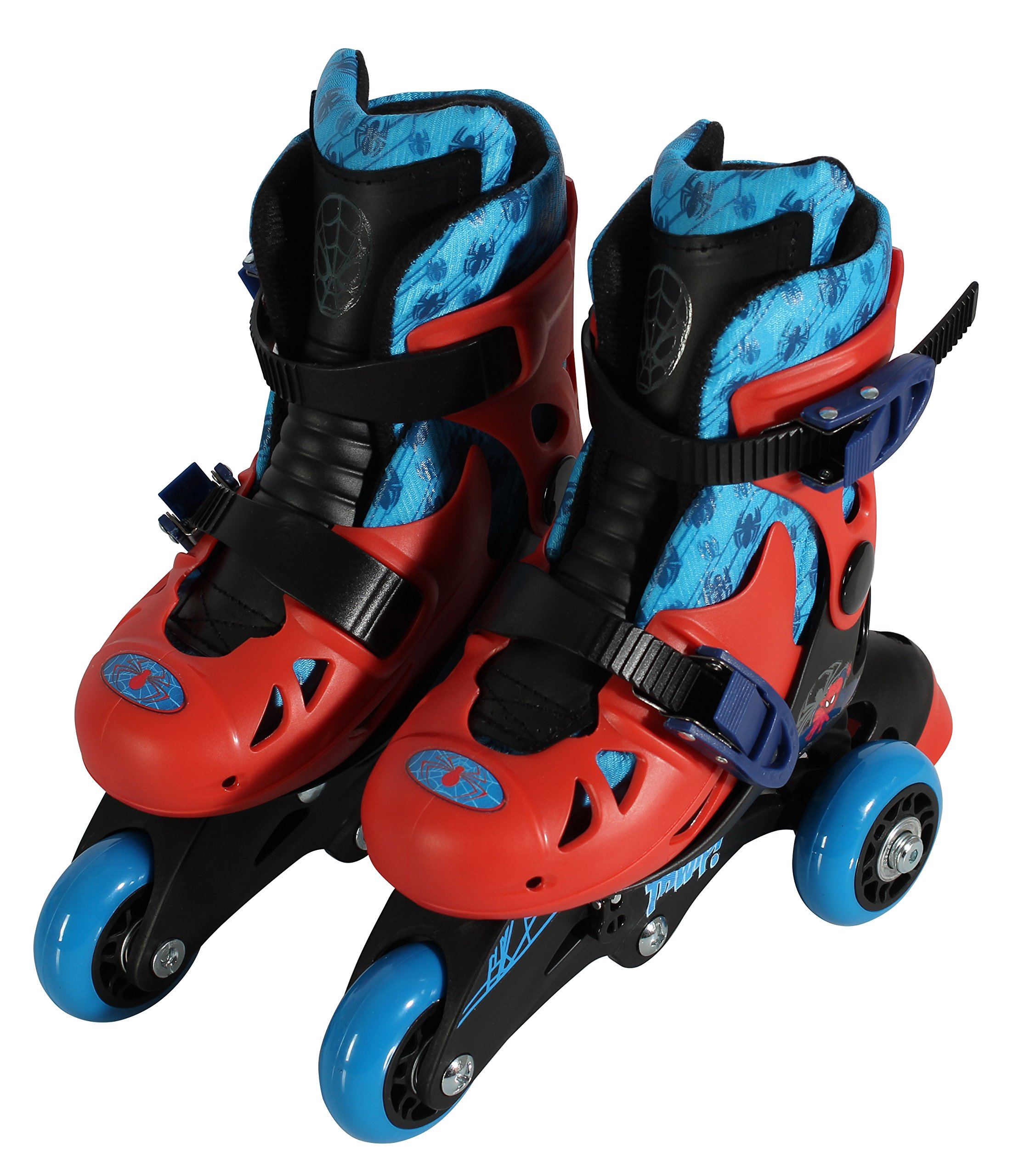 PlayWheels Ultimate Spider-Man Convertible 2-in-1 Skates, Junior Size 6-9