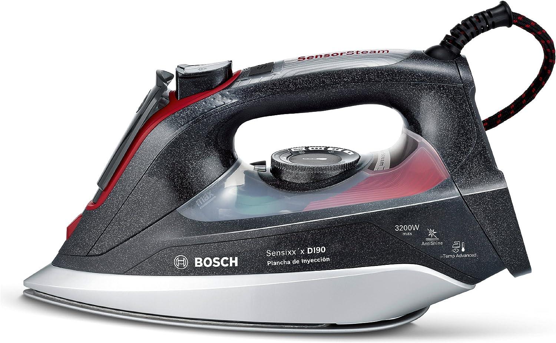 Bosch TDI903239A Sensixx'x DI90 Plancha de inyección, 3200 W, 200 g de supervapor, 65 g/min, color negro