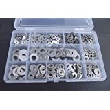 460 Assorted A2-70 Stainless Steel Flat Washers, M3, M4, M5, M6 & M8, Form A