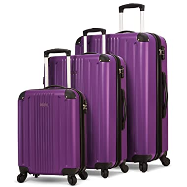 TravelCross Milano Luggage 3 Piece Expandable Lightweight Spinner Set