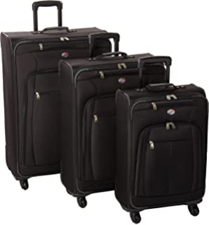 American Tourister AT Pops Plus 3pc Nested Set 21 25/Spinner 29), Black