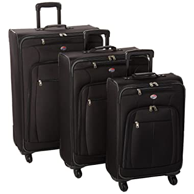 American Tourister AT Pops Plus 3pc Nested Set 21 25/Spinner 29, Black