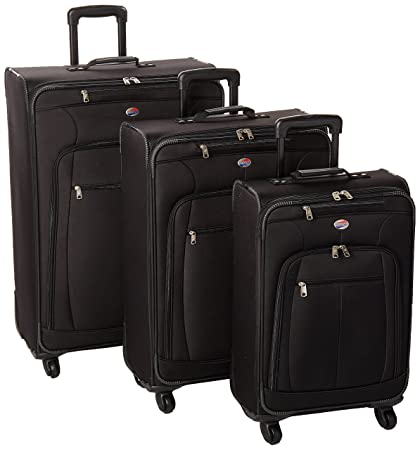 19ccfe167c06 American Tourister AT Pops Plus 3pc Nested Set 21 25/Spinner 29), Black