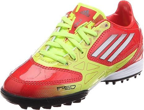 adidas Bota Jr F10 TRX Turf Amarilla-Roja Talla 4 UK: Amazon.es: Deportes y aire libre