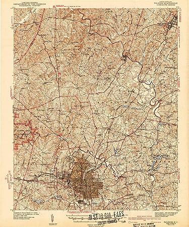 Amazon.com : YellowMaps Raleigh NC topo map, 1:62500 Scale, 15 X 15 ...