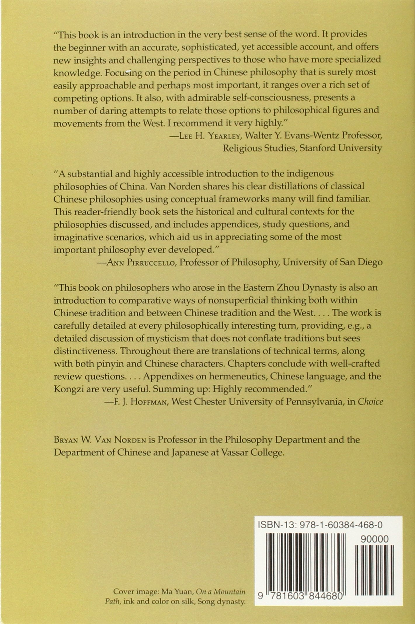 Introduction to Classical Chinese Philosophy: Amazon.co.uk: Bryan W. Van  Norden: 9781603844680: Books