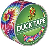 Duck Brand 283268 Printed Duct Tape, Love Tie Dye, 1.88 Inches x 10 Yards, Single Roll