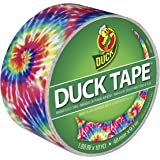 Duck 283268 Printed Duct Tape Single Roll, 1.88 Inches x 10 Yards, Love Tie Dye