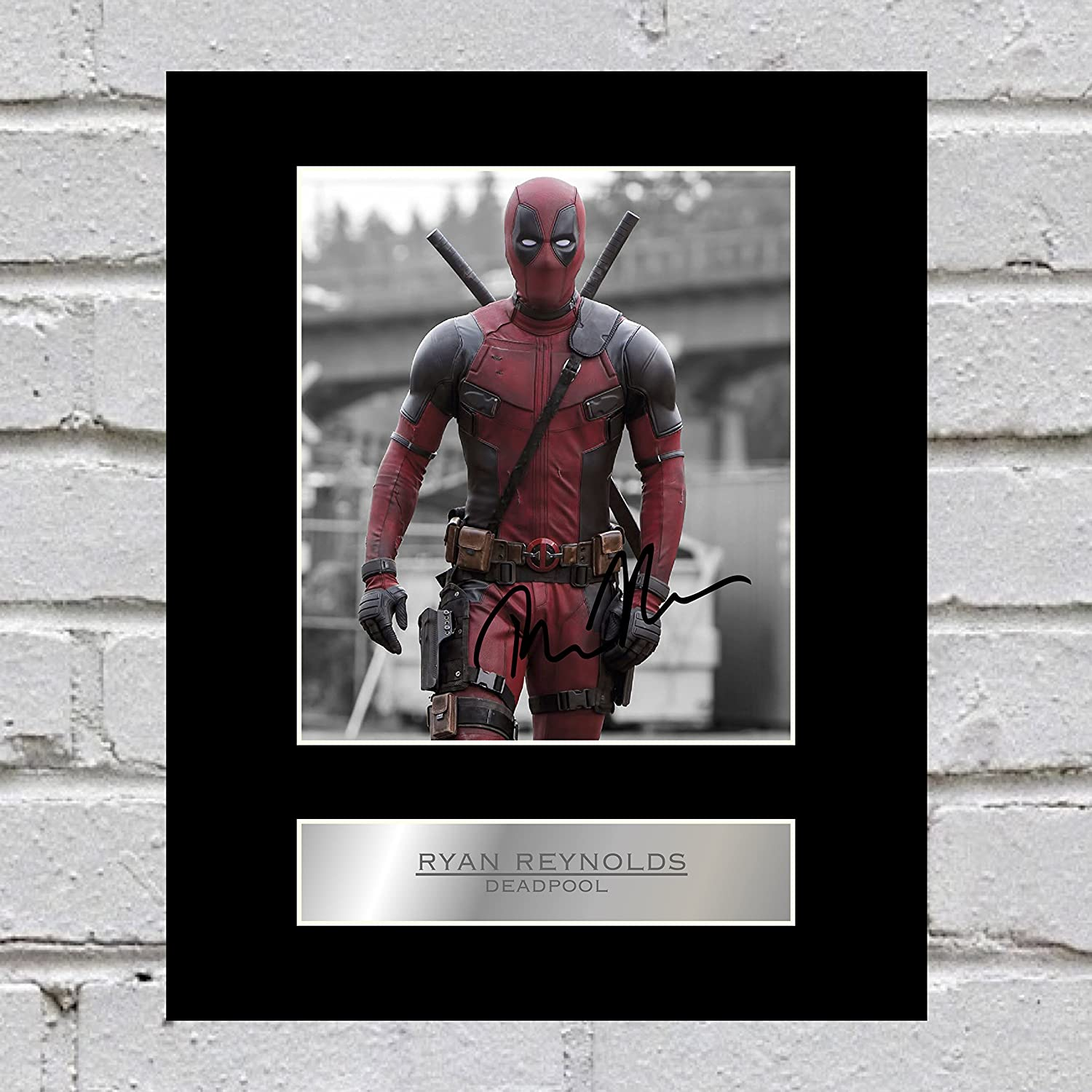 Ryan Reynolds Signed Mounted Photo Display