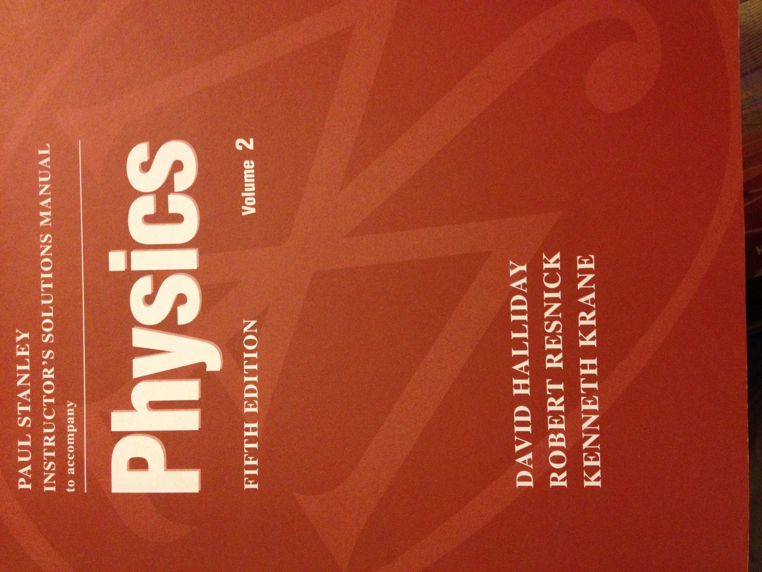 Students Solutions Manual Volume Two to Accompany Physics 5e by Halliday,  Resnick, Krane: 9780471208075: Amazon.com: Books