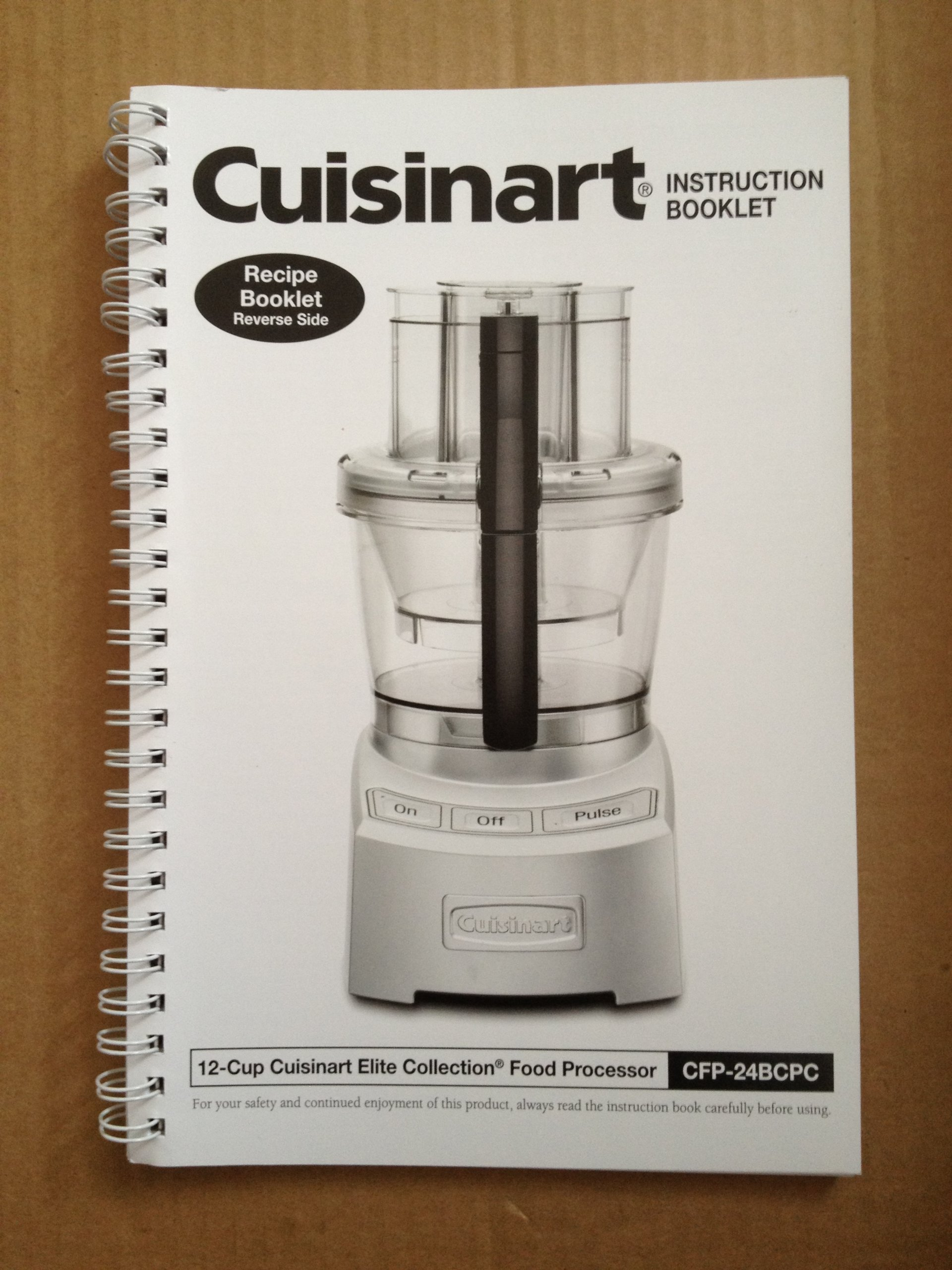 Cuisinart elite collection recipe booklet for 12 cup cfp 24bcpc cuisinart elite collection recipe booklet for 12 cup cfp 24bcpc food processor and instruction booklet cuisinart amazon books forumfinder Image collections
