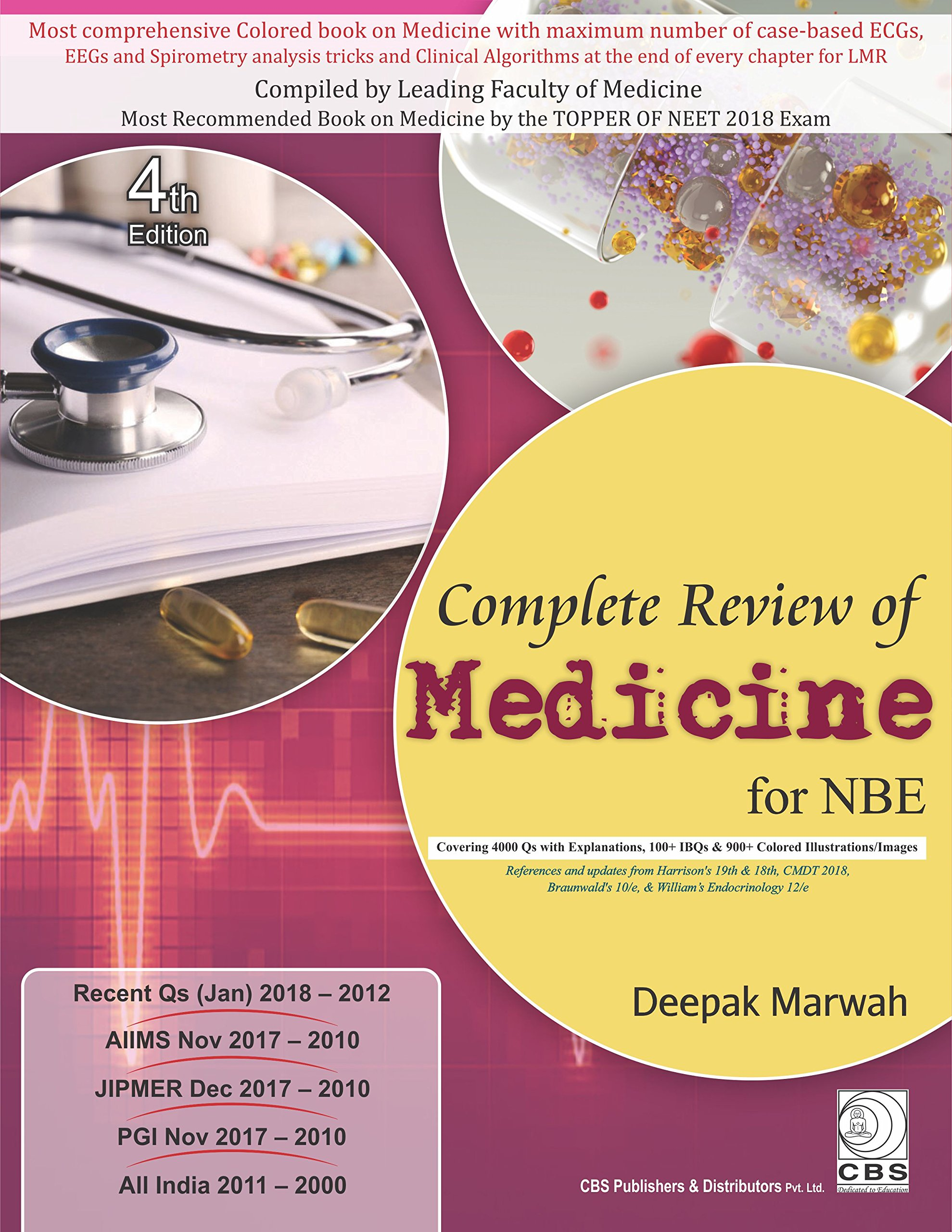 Buy COMPLETE REVIEW OF MEDICINE FOR NBE 4ED (PB 2018) Book