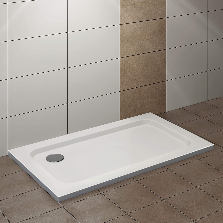 Vilstein© Plato de ducha, muy plano, con pendiente, acrílico ...