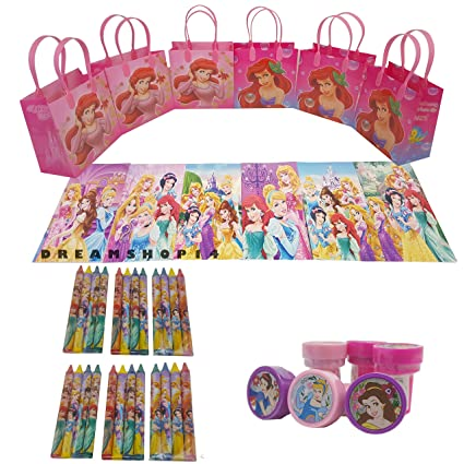 12 Sets of Disney Princesses Coloring Books and Crayon Set Children Party Favors Bag Filler itisyours
