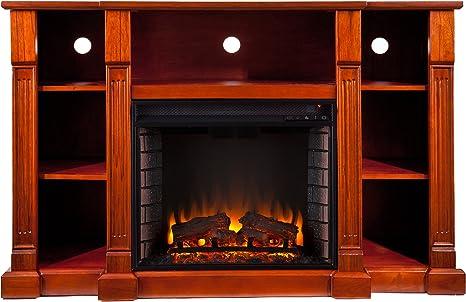 Amazon Com Home Decorators Collection Kendall Media Fireplace 35hx52w Mahogany Home Kitchen