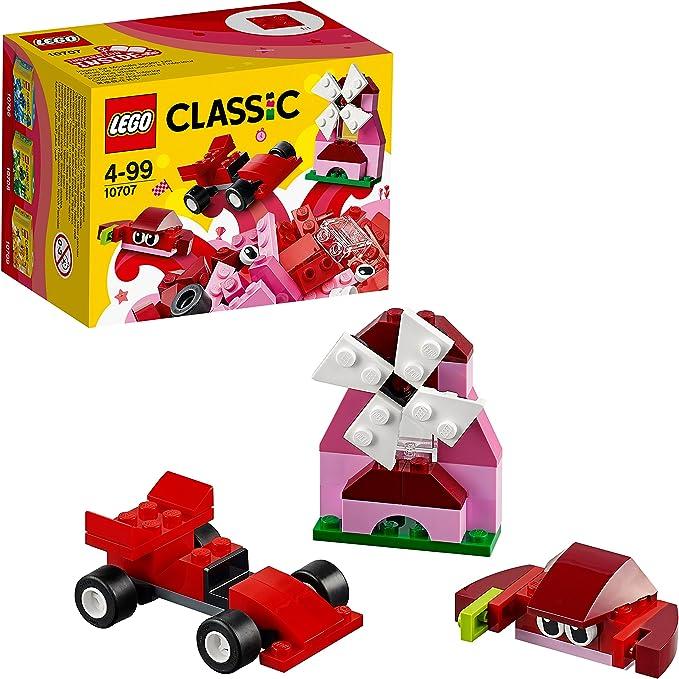 LEGO Classic - Caja Creativa de Color rojo, Juguete de Construcción con Ladrillos de Colores (10707): Amazon.es: Juguetes y juegos
