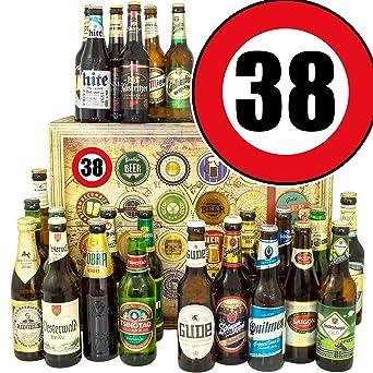 38 Geburtstag Geschenk 24x Biere De Und Welt Zum 38