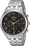 Seiko Men's Solar Chronograph Japanese-Quartz Watch with Stainless-Steel Strap, Silver, 20 (Model: SSC563)