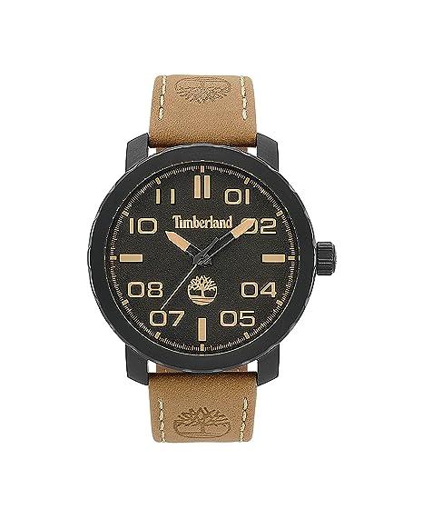 Timberland Reloj Análogo clásico para Hombre de Cuarzo con Correa en Cuero  TBL.15377JSB 02  Amazon.es  Relojes 318a52b13908