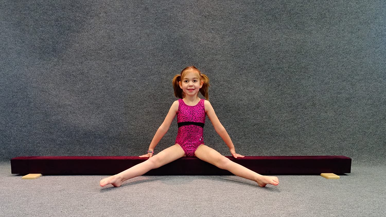 Gymnast Hut 8 ft床バランスビーム(Eggplant 紫の)