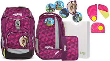 b16861c782217 Ergobag Pack NachtschwärmBär Schulrucksack-Set 6tlg + Sicherheitsset Pink